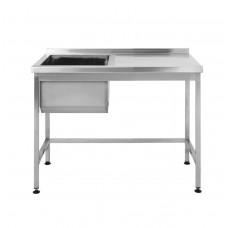 Стол производственный с мойкой Restoraninvest 1000x600x850