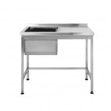 Стол производственный с мойкой Restoraninvest 800x600x850