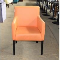 Крісло б/в кожзам помаранчеве