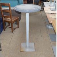 Стол барный б/у круглый искусственный камень