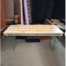 Раскладной стол б/у на металлической ноге