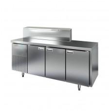 Холодильный стол б/у с витриной для ингредиентов