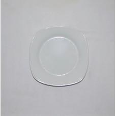 Тарілка б/в порцелянова квадратна №1
