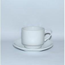 Чашка с блюдцем б/у Lubianа