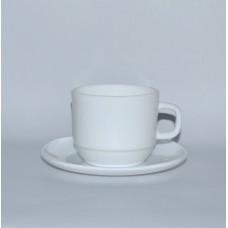 Чашка з блюдцем б/в склокераміка