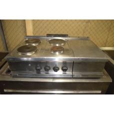 Плита электрическая б/у 4 конф. с холодильным столом и нейтральным элементом