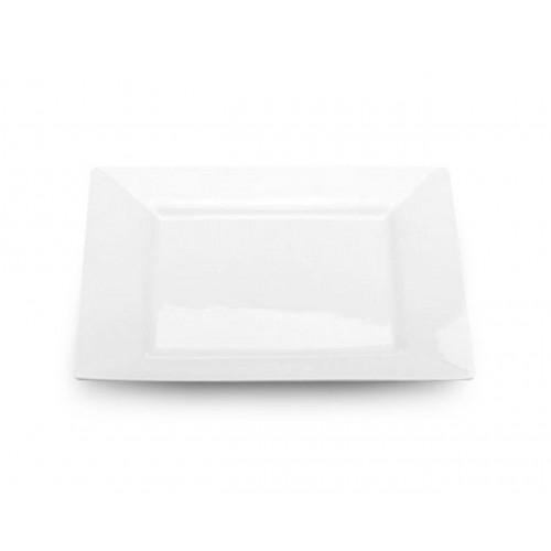 Тарелка б/у из фарфора квадратная 19/19 см