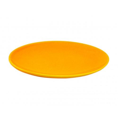 Блюдо керамическое б/у овальное желтое 29 см