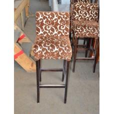Стул барный б/у  коричневый, сиденья с узором